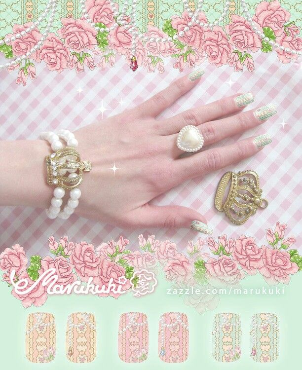 Princess Jewel ♡ http://www.zazzle.com/marukuki  #nailart #nail #nails #ネイルサロン #ネイル #ネイルアート #kynnet #beauty #fashion #lolita #egl #gyaru #ロリィタ #ギャル #himegyaru #姫ギャル #ビューティー #eglcommunity #eglfinland
