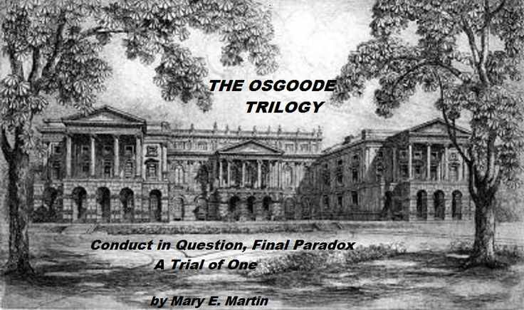 NUMBER 3 CONDUCT in QUESTION, is the first in the legal thriller series THE OSGOODE TRILOGY. This is an etching of OSGOODE HALL in HARRY JENKINS' office. Although many see the LAW as a means to enrich oneself, Harry sees it as a useful tool to help his clients. READ the PROLOGUE? http://maryemartintrilogies.com/10759-2/ BUY http://www.amazon.com/author/maryemartin