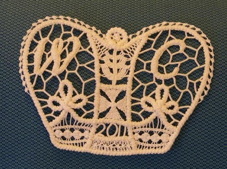 Romanian Point Lace crochet crown