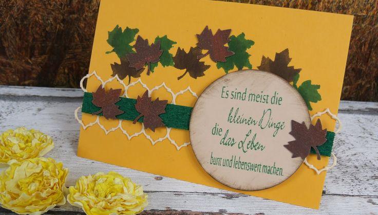 Video-Tutorial: Herbstliche Geburtstagskarte mit Resten basteln cardmaking [deutsch]