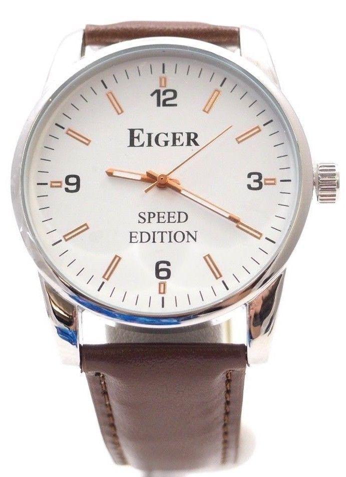75f581b6435f New Never Worn Eiger 44mm Speed Edition Men s Quartz Wrist Watch  Eiger   Casual