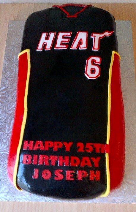 Miami Heat Shirt Cake