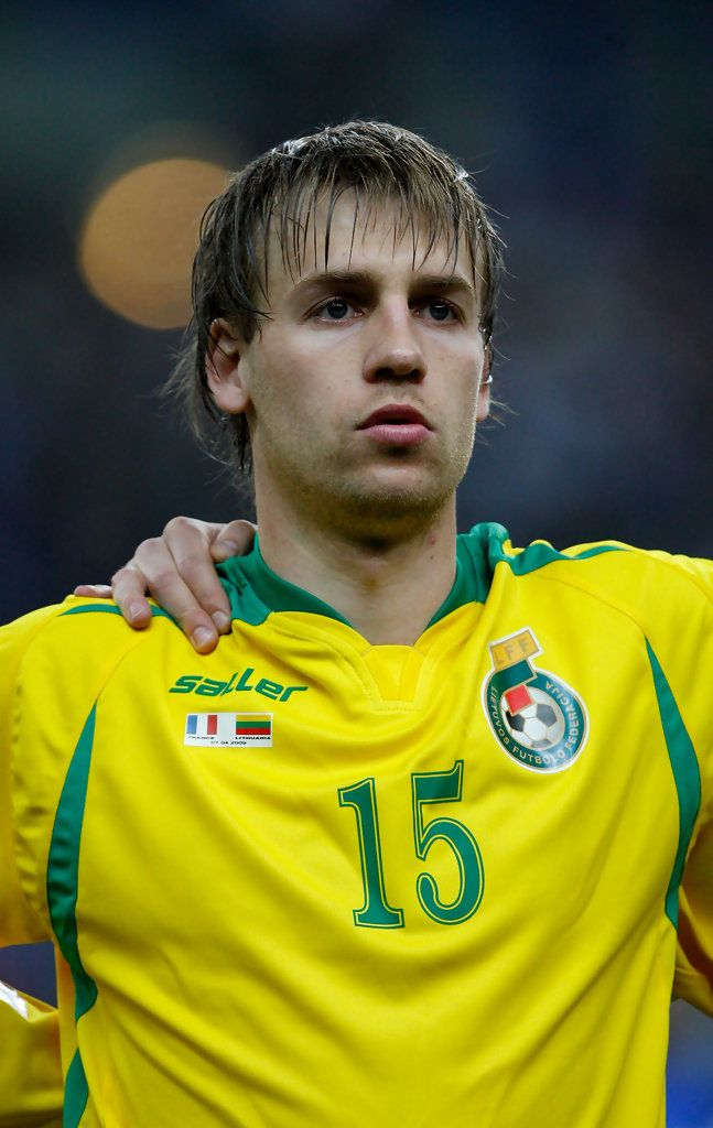 Lithuania player Arunas Klimavicius looks on before the group 7 FIFA2010 World Cup Qualifier between France and Lithuania at Saint Denis, Stade de France on April 1, 2009  in Paris, France.