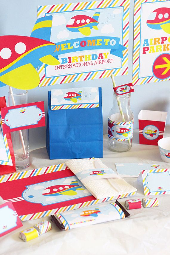 22 best Airplane Birthday Party images on Pinterest Airplane