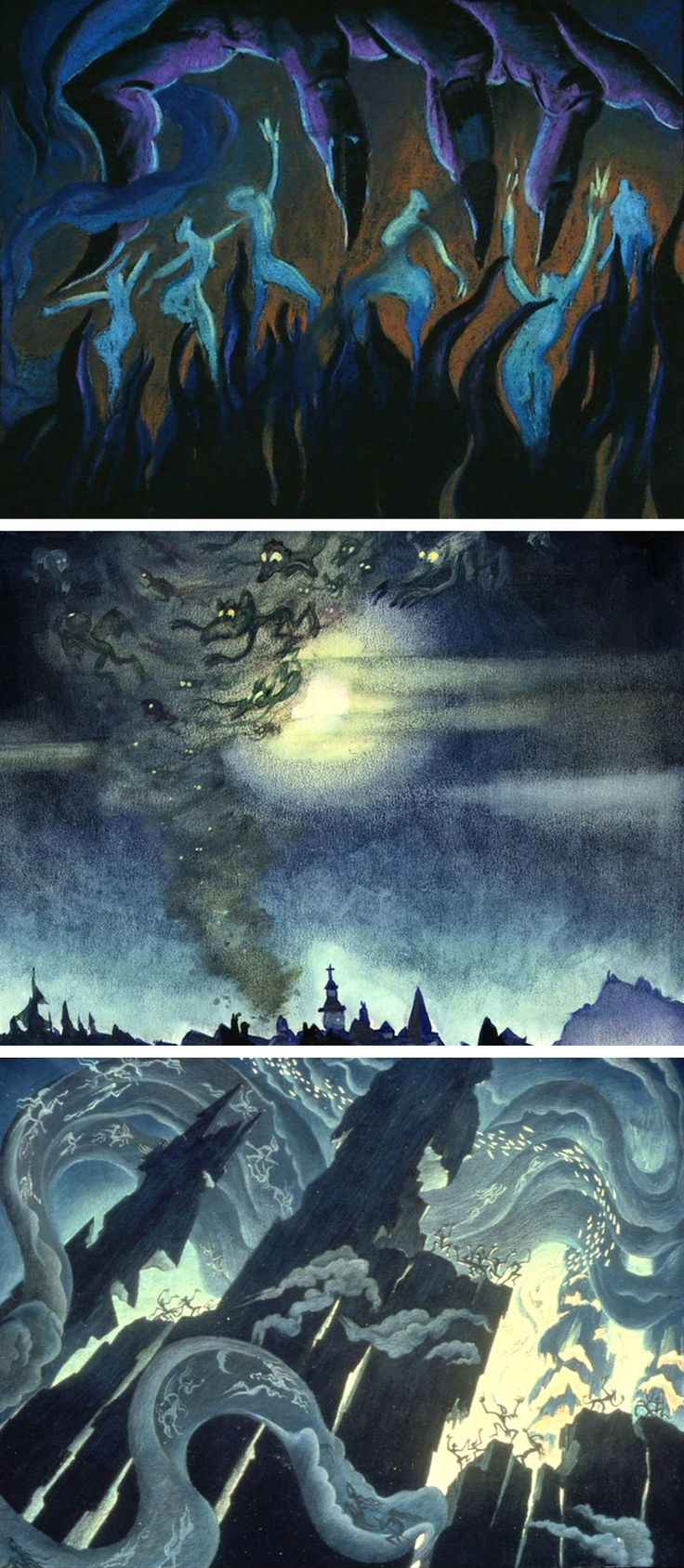 Concept Art By Kay Nielsen For The Night On Bald Mountain