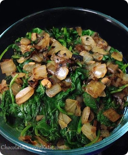 How To Cook Kale - the EASY way... recipe from @choccoveredkt... no fancy ingredients needed. http://chocolatecoveredkatie.com/2014/02/19/cook-kale/