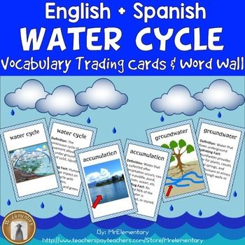 Water Cycle Vocabulary Cards And Word Wall This Is A Set Of 16