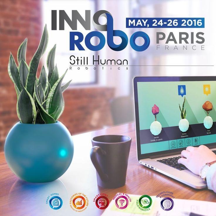 Retrouvez nous à @Innorobo du 24 au 26 Mai aux Docks de Paris #innorobo #robot #iot #frenchtech #cyborgvegetal by cyborg_vegetal