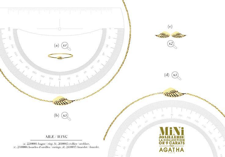 MiNi AILE > MiNi Joaillerie la collection or 9 carats par AGATHA Paris