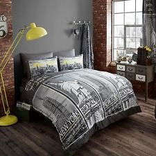 VILLE DE NEW YORK « INSPIRE » SET HOUSSE DE COUETTE DOUBLE