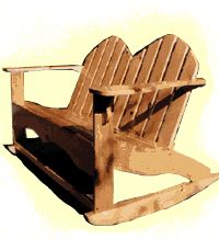 """Off Tha Chain"" Porch Relaxation: 4 Free Porch Glider Plans, 4 Free Porch Rocking Chairs 