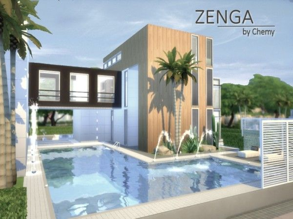 Sims 4 Home Design sirintra modern design house by autaki sims 3 downloads cc caboodle Houses And Lots Zenga House By Chemy From The Sims Resource Sims 4 Downloads