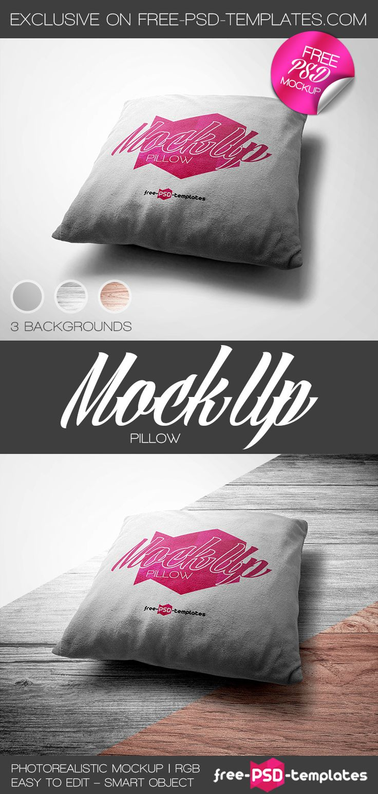 Free Pillow Mock-up in PSD   Free PSD Templates