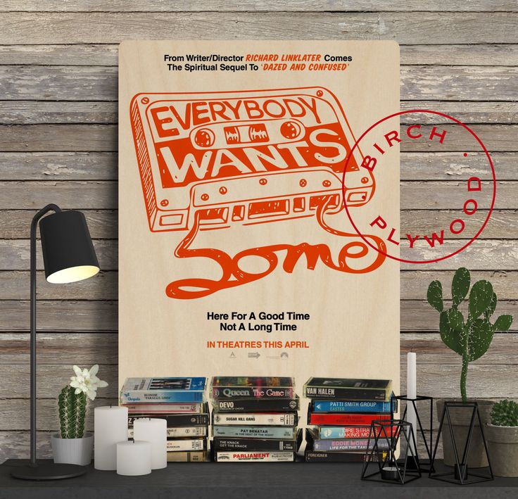 EVERYBODY WANT SOME - Poster on Wood, Blake Jenner, Tyler Hoechlin, Ryan Guzman, Unique Gift, Print on Wood, Custom Wood Print by InHousePrinting on Etsy
