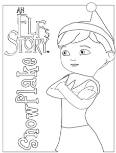 Elf Coloring Pages elf on the