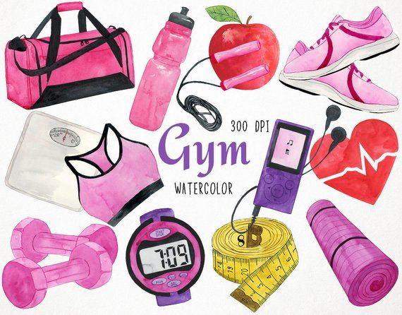 Fitness Clipart Workout Clipart Fitness Clip Art Gym Etsy In 2020 No Equipment Workout Cardio Workout Biking Workout