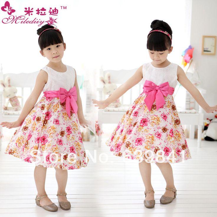 Niñas al por menor de la princesa vestido de niña de las flores del vestido de chevron verano de 2013, los niños chica fiestera 1303 # -in Ropa y accesorios en Aliexpress.com | Alibaba Group