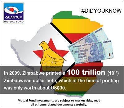 Can you imagine a 100 trillion denomination currency note? #DidYouKnow In 2009, Zimbabwe printed a 100 trillion Zimbabwean dollar note, which at the time of printing was only worth about US$30.