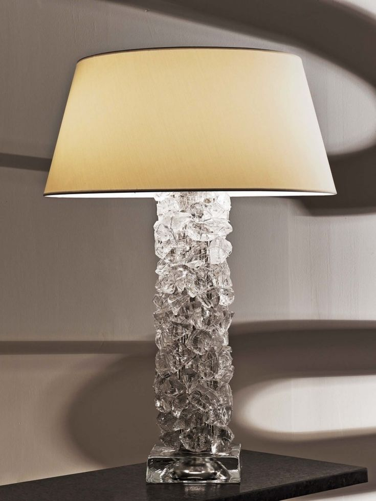 Buy rock crystal collection pillar table lamp by cl sterling s collection of contemporary traditional