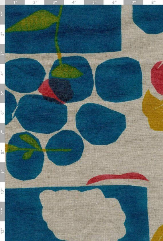 nani iro fuukie linen fabric from japan