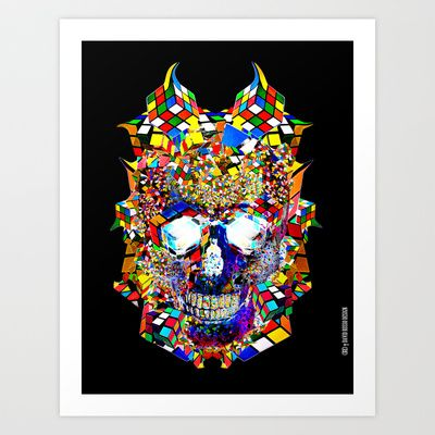 The Rubixification Art Print by DRD † David Russo Design - $17.68