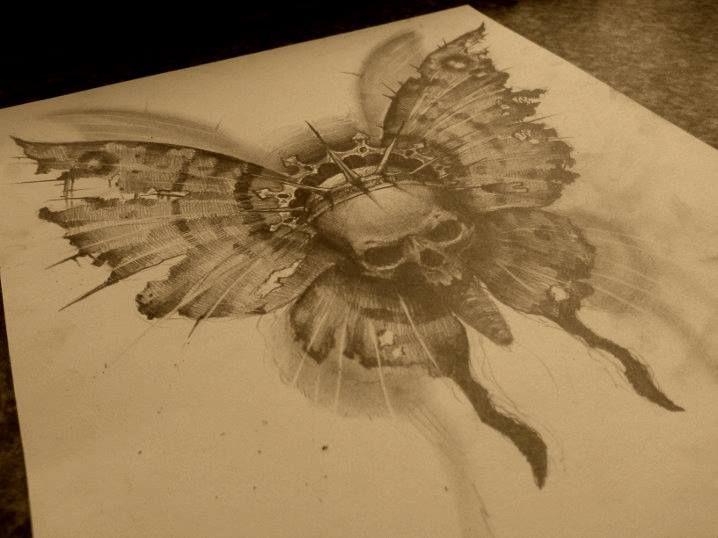 skull butterfly by AndreySkull.deviantart.com on @DeviantArt