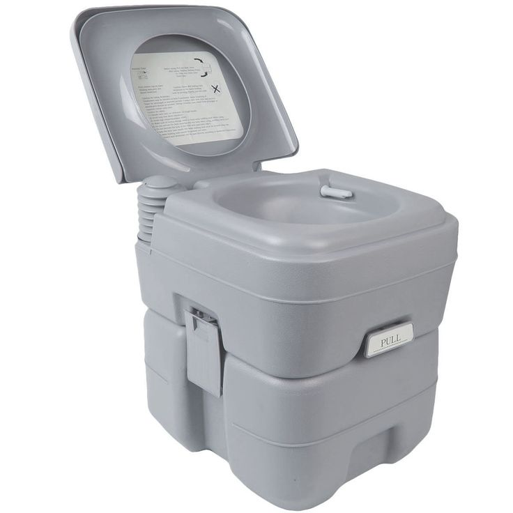 This portable camp flushable potty toilet is a must have for people camping, using caravans, RVs, motorhomes, and boats. It´s ultra portable and small enough to be stored well out of sight when not in