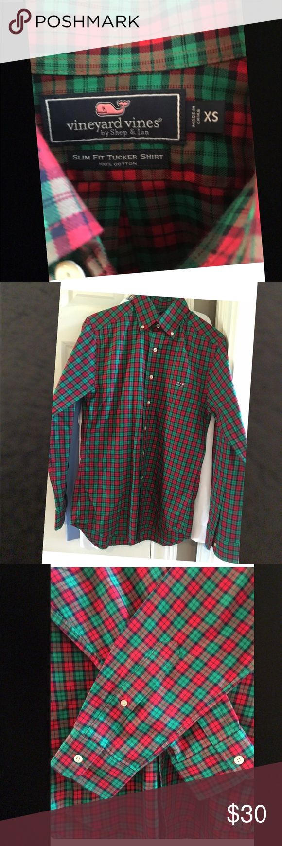 Vineyard Vines Men's slim fit shirt size xs NEVER WORN or laundered. Perfect for size Xl youth as well. Vineyard Vines Shirts Dress Shirts