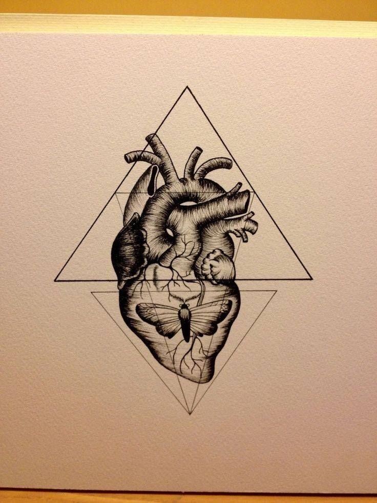 project tattoo by young architect heart butterfly triangle