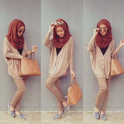 Trend hijab 2014 ala dini djoemiko hijab fashion pinterest moslem fashion turban and Fashion style hijab terkini