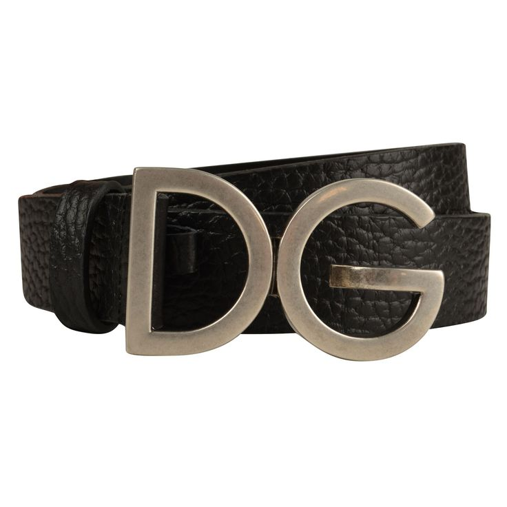 Dolce and Gabbana   Grain Leather Logo Belt