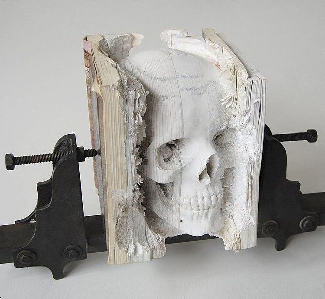 Fancy - Book Skull by Maskull Lasserre