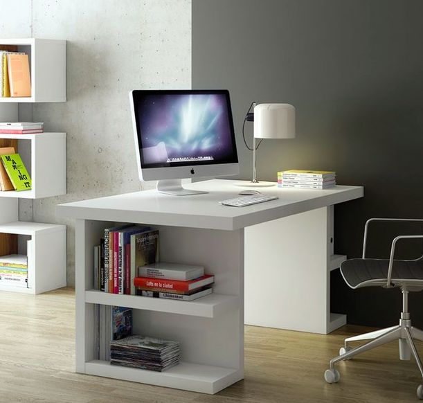 temahome multi office table with side storage in 5 finishes office desk in white chocolate wenge walnut and oak with lateral storage