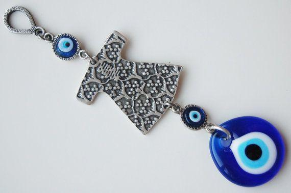 Caftan Handmade Evil Eye Silver Plated Turkish by TheGrandBazaar, $12.50