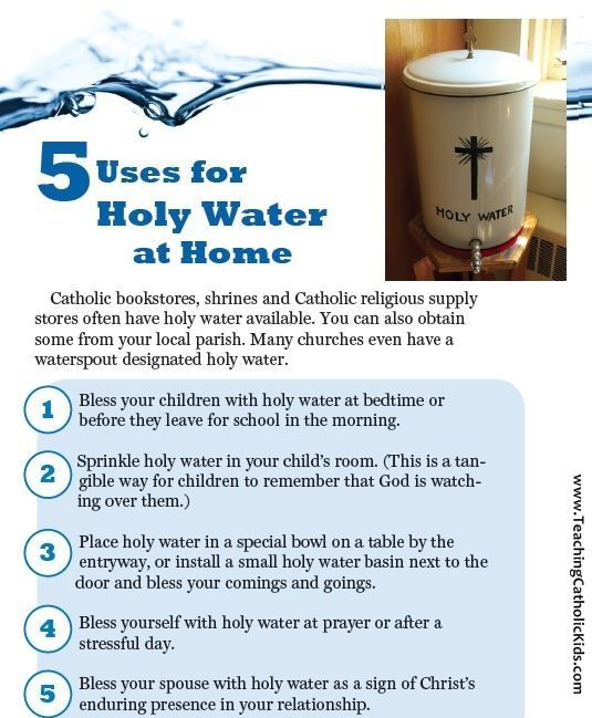 Do you have Holy Water at home?