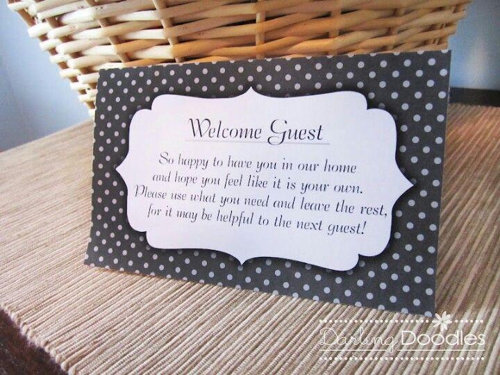 Guest room basket
