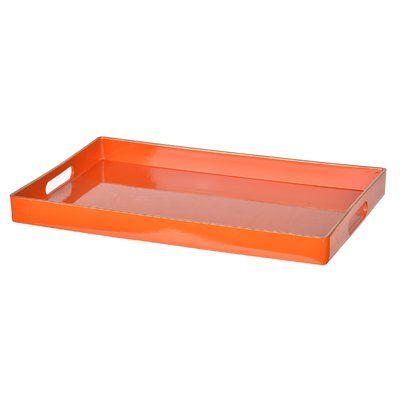 Zipcode Design Orange Plastic Serving Tray