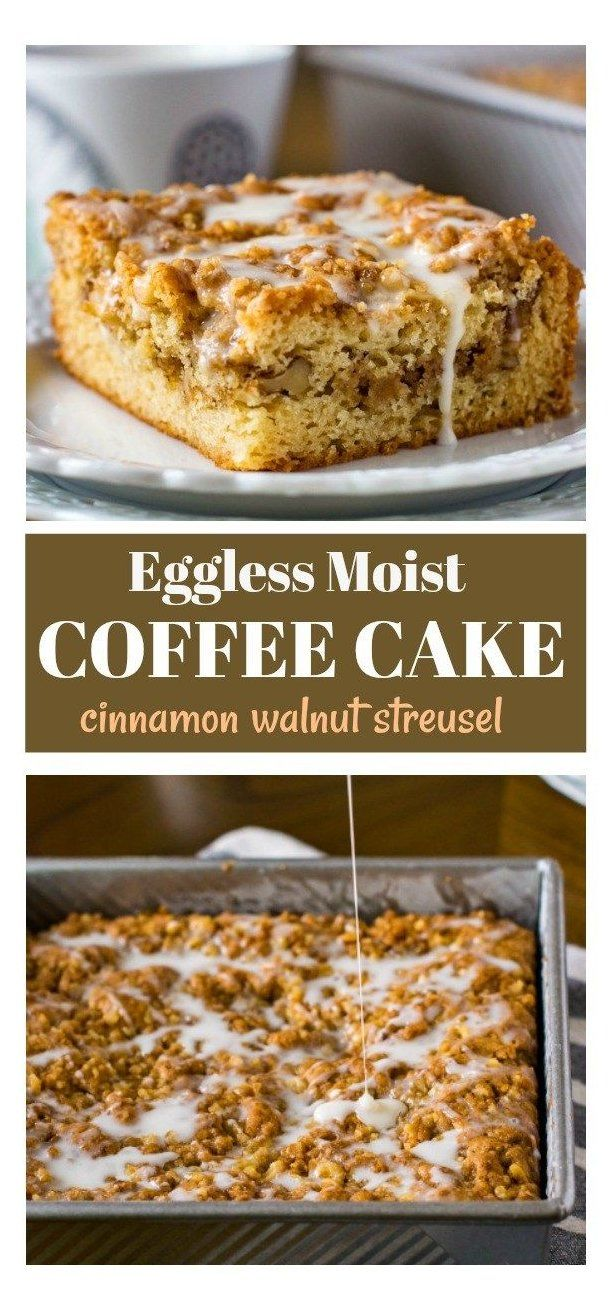 Eggless Coffee Cake Recipe With Walnut Streusel Eggless Tea Time Cake Eggless Coffee Cake Rec In 2020 Eggless Coffee Cake Recipe Tea Cakes Recipes Walnut Recipes