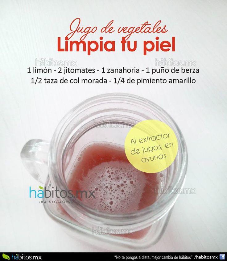 Hábitos Health Coaching   JUGO DE VEGETALES LIMPIA TU PIEL