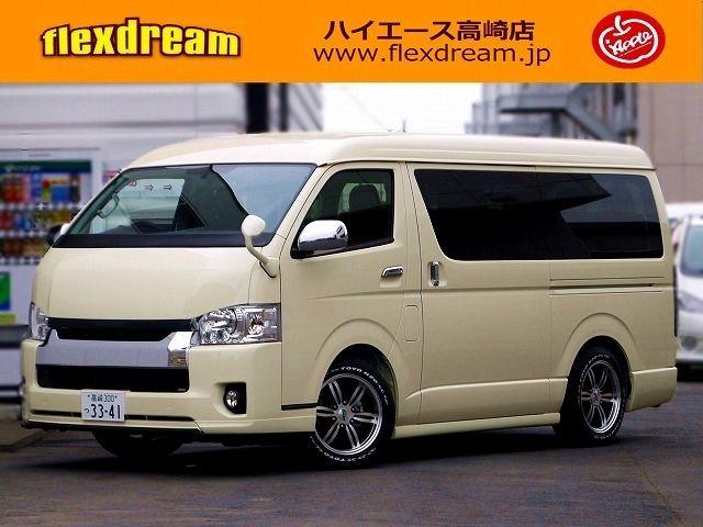 ハイエース200系ワゴンGL カスタムデモカー兼試乗車 FD-BOX2改 toyota hiace