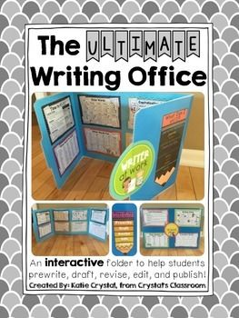 Here is the Ultimate Writing Office! It is an interactive folder designed for students to use as an aid while they prewrite, draft, revise, edit, and publish. It also provides privacy since it is in itself a partition. You can use these during your reading/writing workshop to build student enthusiasm and improve students' writing craft!Here is what this pack includes:Cover:Steps of the Writing Process Pencil PosterWhat Can I Write?