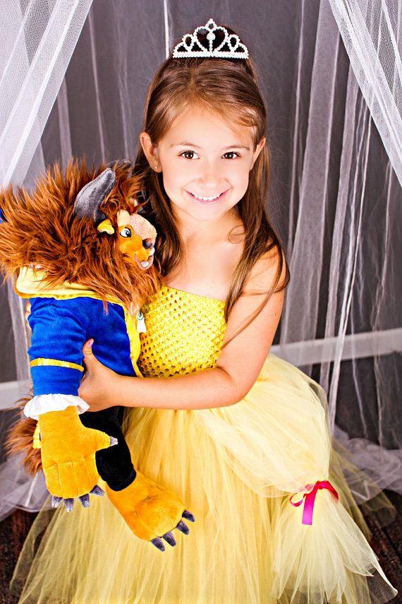 Newborn Size 12 Belle Inspired Tutu Dress by krystalhylton