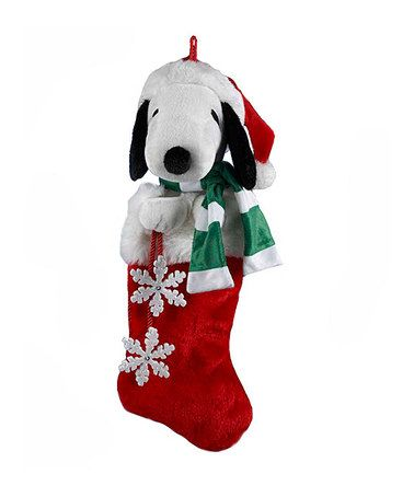 This Snoopy Plush Head Stocking is perfect! #zulilyfinds
