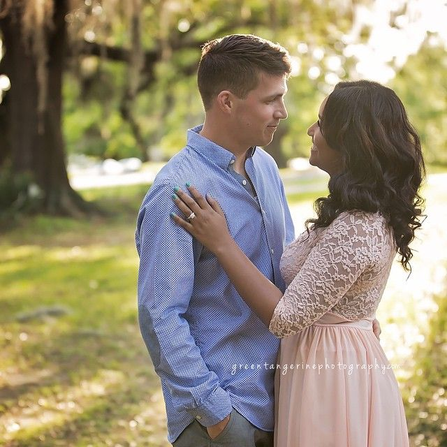 Noah and Xaviera ❤ Gorgeous interracial couple engagement photography in New Orleans, Louisiana #love #wmbw #bwwm #swirl #wedding #lovingday ♡ Green Tangerine Photography