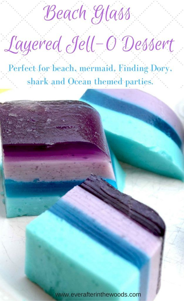 Sea Glass Layered Jell-O Bars