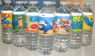 rio party supplies | Utopia Party Decor: Themed Water Bottle Labels