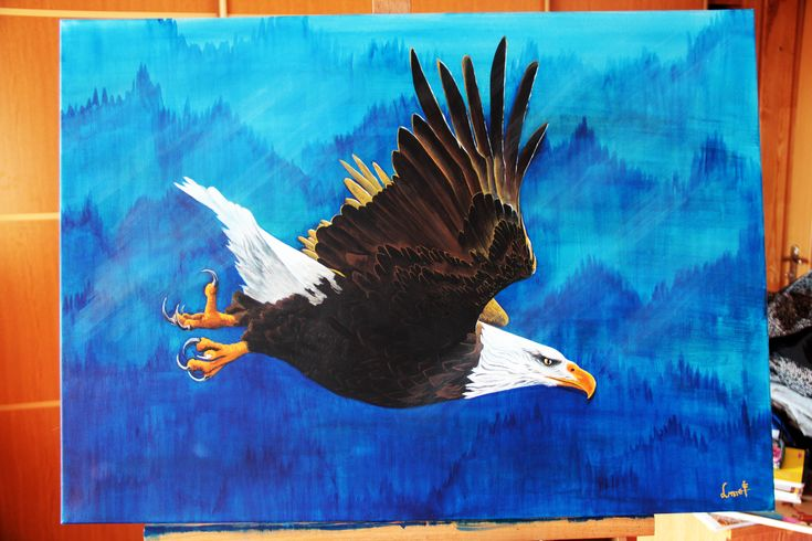 My old #painting of #eagle. #art #acrylicpainting