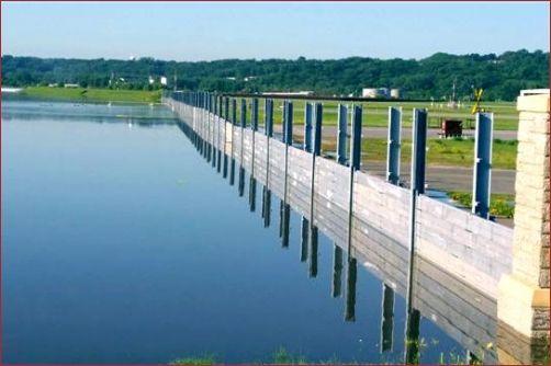 Flood Wall - St. Paul | Removable Flood Walls - Flood Control America