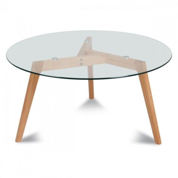 Table De Repas Ronde Verre Et Bois Scandinave D 110xh 75cm Table Basse Ronde En Verre Table Basse Ronde Table Basse Verre