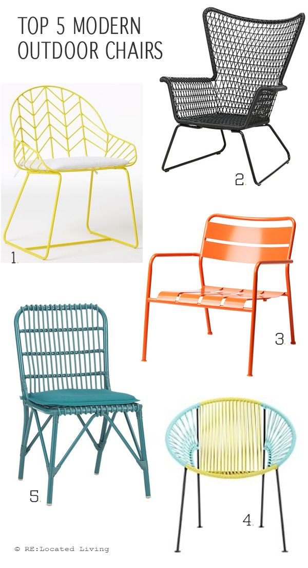 Top 5 Modern Outdoor Chairs Top 5 Modern Outdoor Chairs for every budget